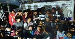 দাবি মেনে নেওয়ায় অনশন ভেঙে শিক্ষার্থীদের উল্লাস