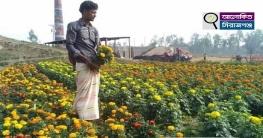 সলঙ্গায় ফুল ব্যবসায়ীদের বিশেষ দিনের টার্গেট ৫ লাখ টাকা