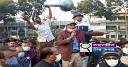 উল্লাপাড়ায় আ`লীগের মেয়র প্রার্থী নজরুলের গণসংযোগ যেন জনসমুদ্র