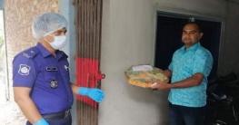 বেলকুচি থানায় করোনা আক্রান্তদের উপহার ডালি প্রেরণ