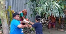 কাজিপুরে মুজিবপাড়া দুস্থ কল্যাণ সংস্থার ত্রাণ পেলো ৩৫০ বানভাসী