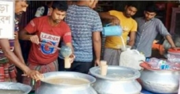 উল্লাপাড়ায় শত বছরের সুনামের সলপের ঘোলের চাহিদা রমজানে বাড়ে