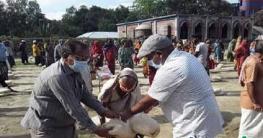 উল্লাপাড়া ৫০০ জন কর্মহীন মানুষের মাঝে ত্রান বিতরণ করেন-পৌর মেয়র
