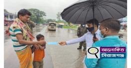 উল্লাপাড়ায় কঠোর লকডাউন,স্বাস্থ্যবিধি না মানায় ৩ জনের জরিমানা