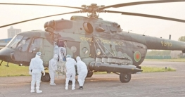 করোনা রোগীর সহায়তায় বিমান বাহিনীর জরুরি পরিবহন সেবা