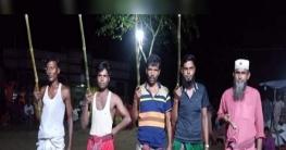 সলঙ্গায় গ্রাম বাংলার ঐতিহ্যবাহী লাঠিবাড়ি খেলা অনুষ্ঠিত