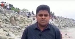 সিরাজগঞ্জ শহর রক্ষা বাধে জরুরি ভিত্তিতে মেরামতের কাজ চলছে