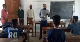 তাড়াশে বিদ্যালয় পরিদর্শনে গিয়ে ক্লাস নিলেন ইউএনও